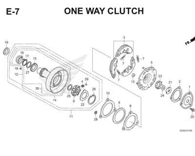 E7 One Way Clutch Thumb