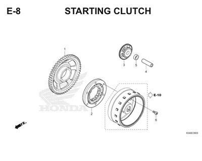 E8 Starting Clutch Thumb
