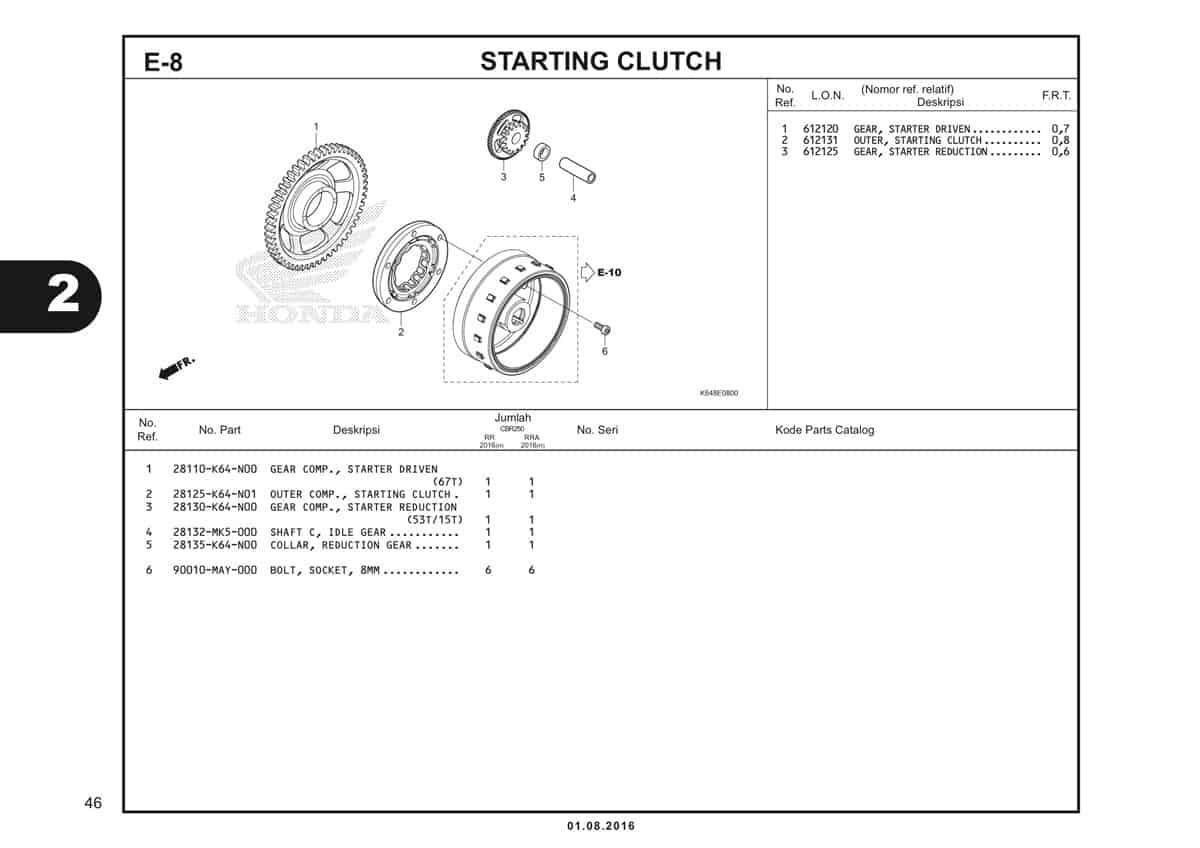 E8 Starting Clutch