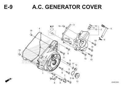 E9 A.C. Generator Cover Thumb
