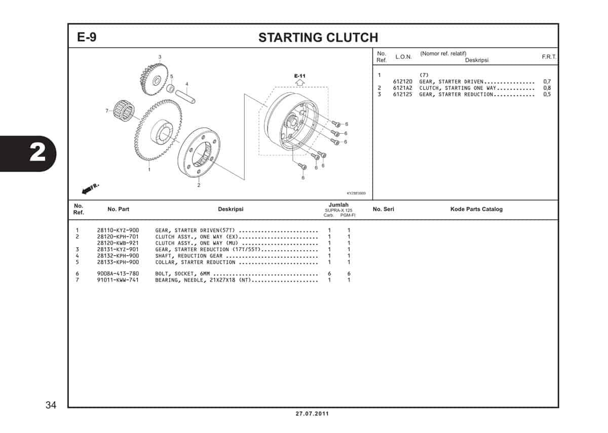 E9 Starting Clutc