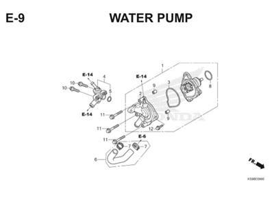 E9 Water Pump Thumb