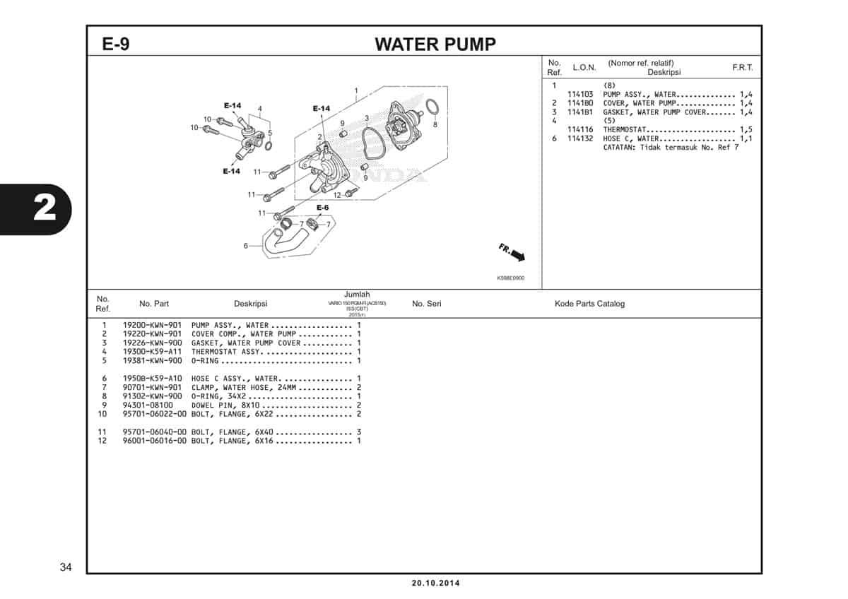 E9 Water Pump