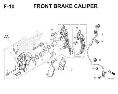 F10 Front Brake Caliper Thumb