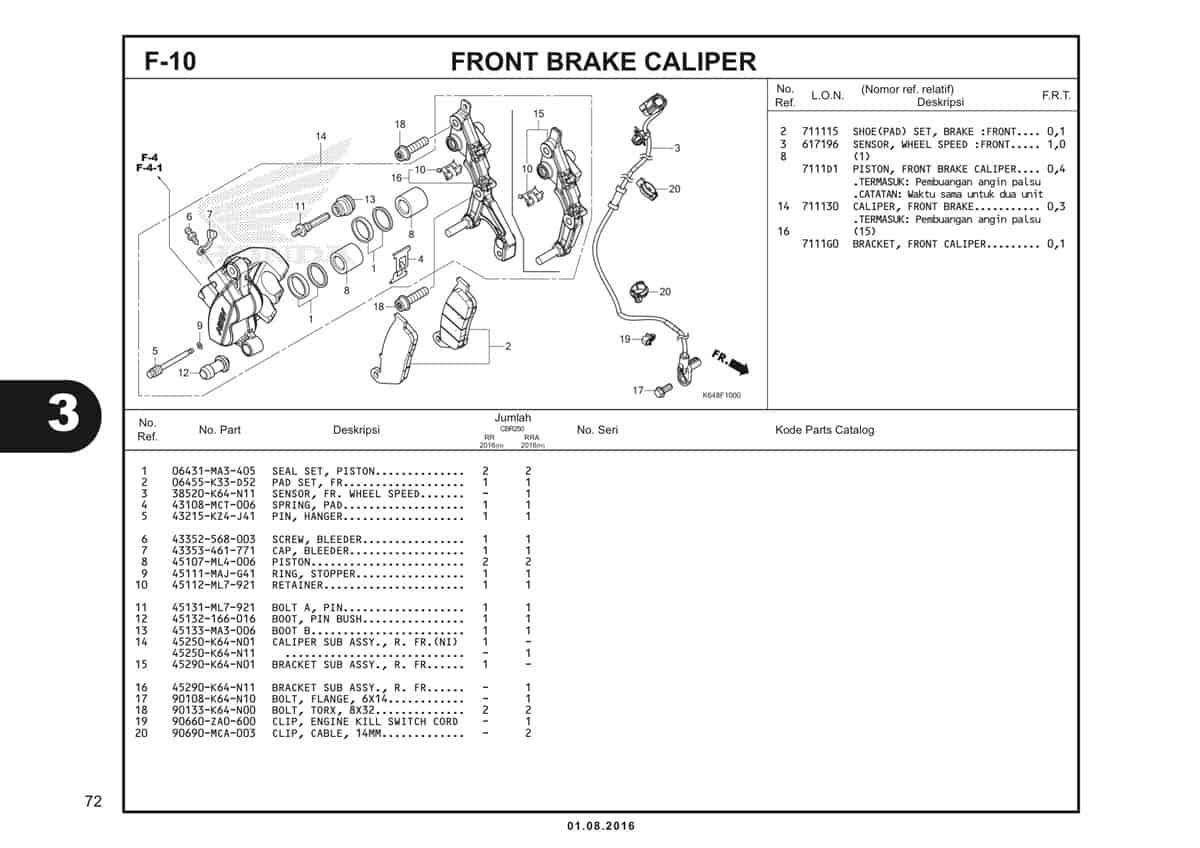 F10 Front Brake Caliper