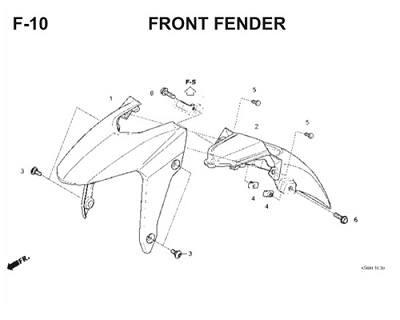F10 Front Fender Thumb