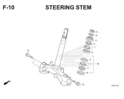 F10 Steering Stem Thumb