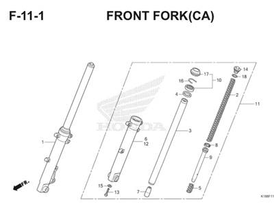 F11 1 Front Fork Thumb