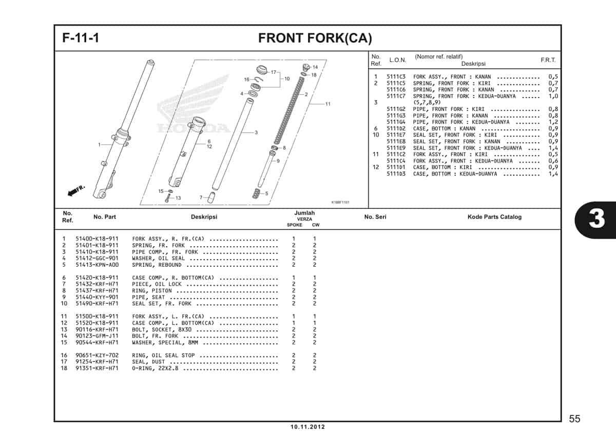 F11 1 Front Fork