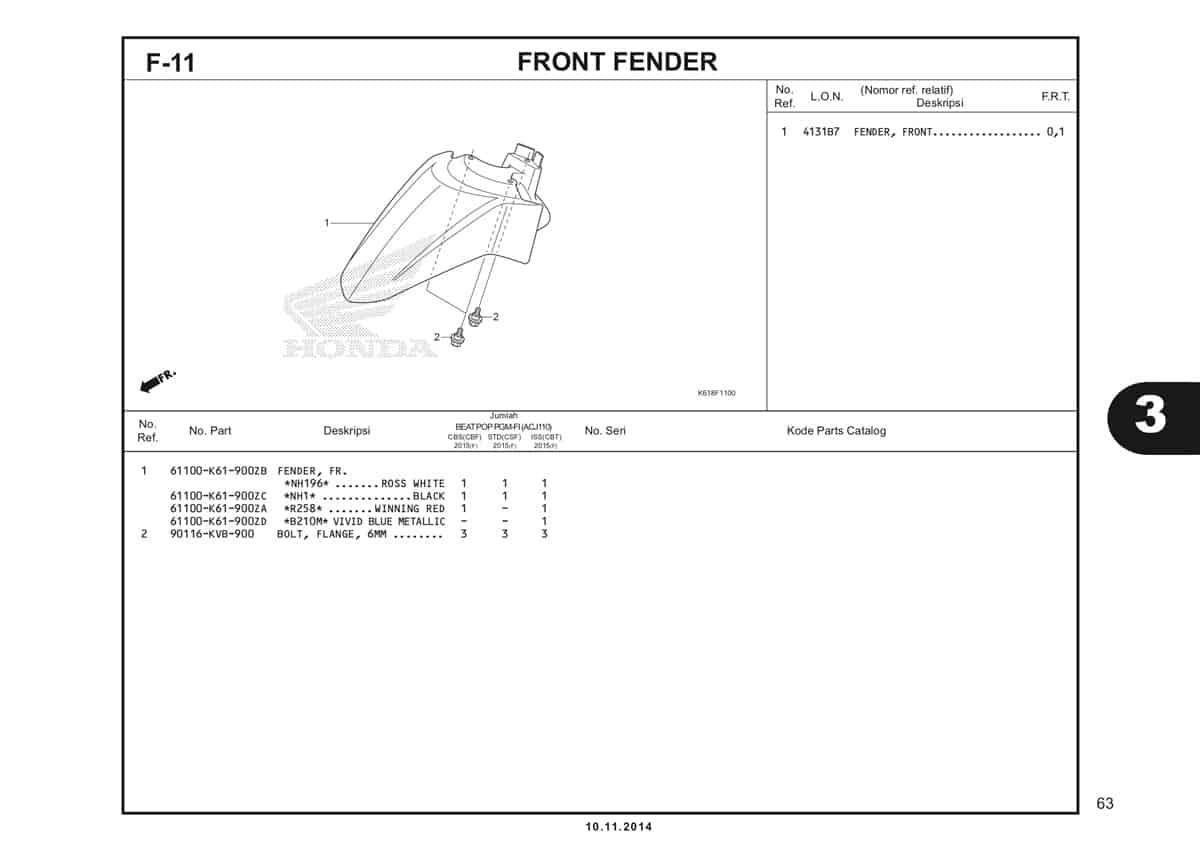 F11 Front Fender