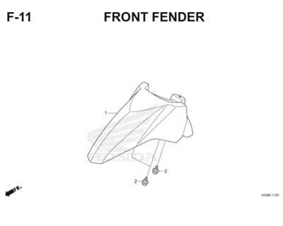 F11 Front Fender Thumb