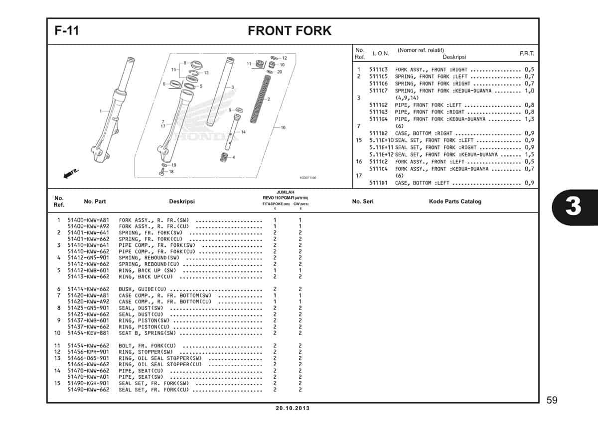 F11 Front Fork 1