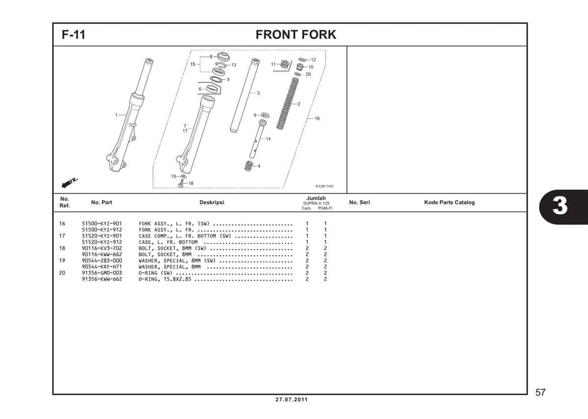 F11 Front Fork 2