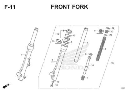 F11 Front Fork Thumb