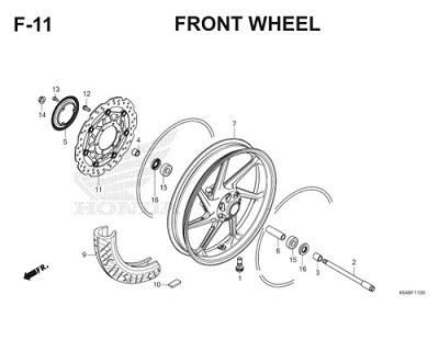 F11 Front Wheel Thumb
