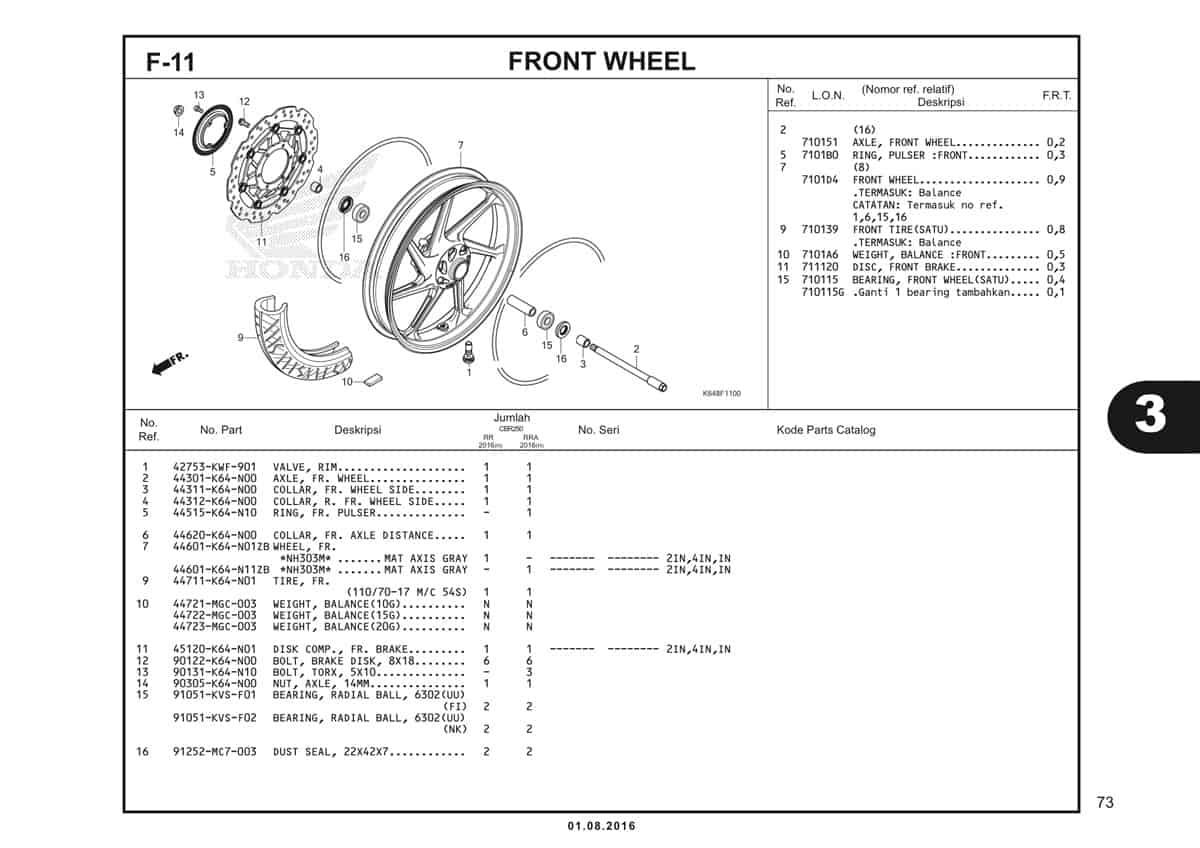 F11 Front Wheel