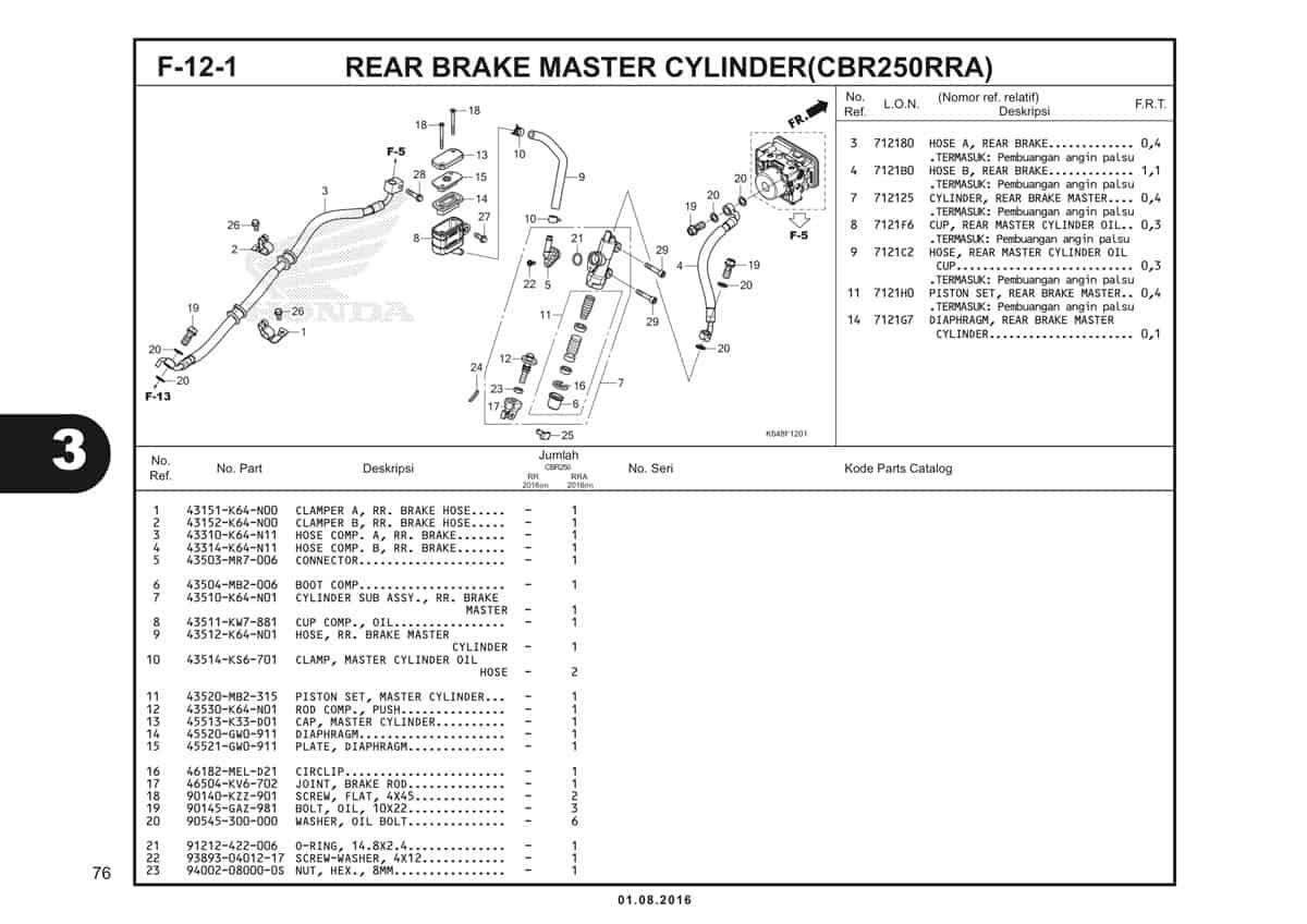 F12 1 Rear Brake Master Cylinder 1