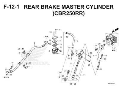 F12 1 Rear Brake Master Cylinder Thumb