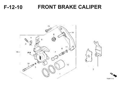 F12 10 Front Brake Caliper Thumb
