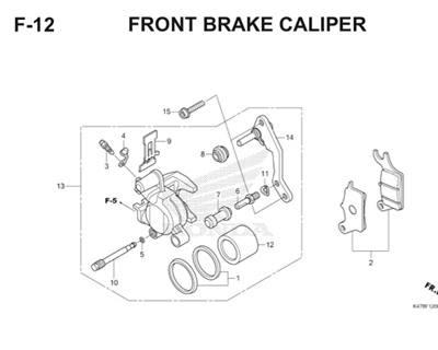 F12 Front Brake Caliper Katalog Blade K47 Thumb