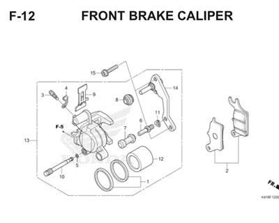 F12 Front Brake Caliper Thumb