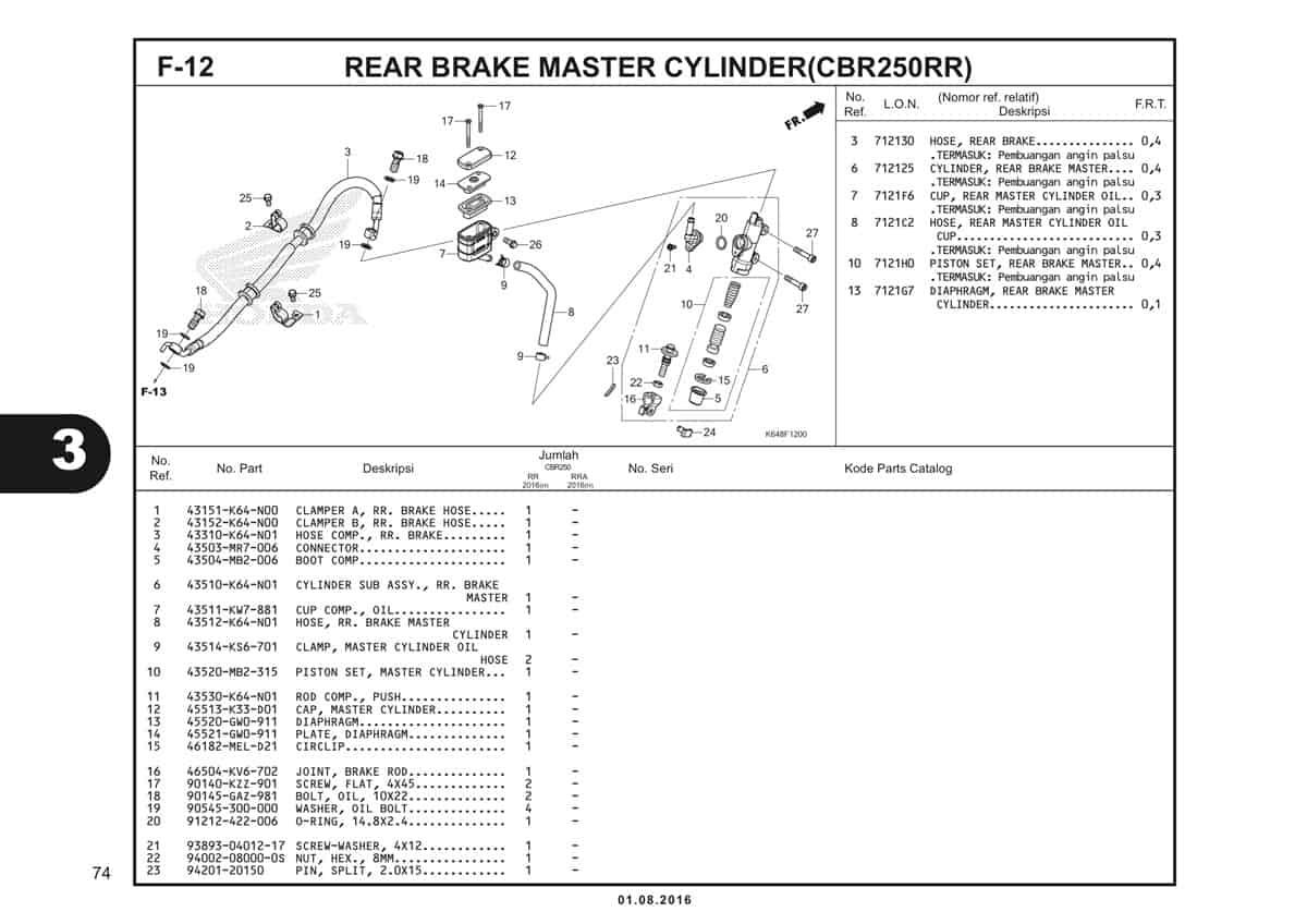 F12 Rear Brake Master Cylinder 1
