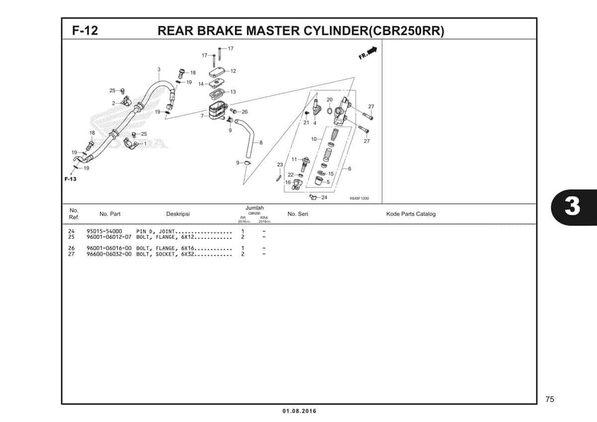 F12 Rear Brake Master Cylinder 2