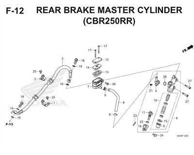 F12 Rear Brake Master Cylinder Thumb