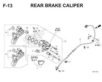 F13 Rear Brake Caliper Thumb