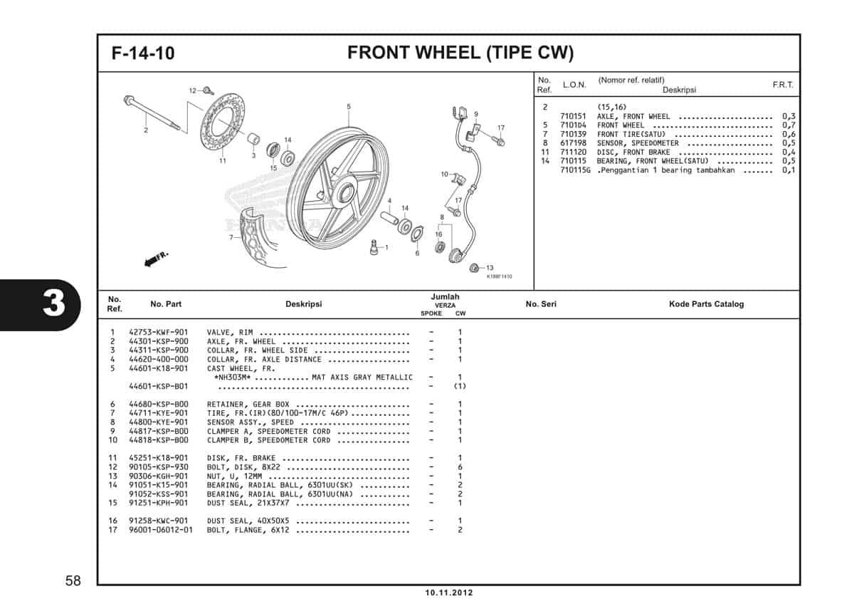F14 10 Front Wheel