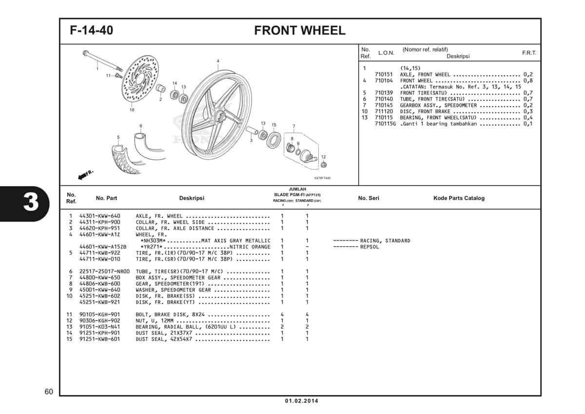 F14 40 Front Wheel Katalog Blade K47