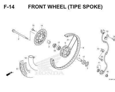 F14 Front Wheel Thumb