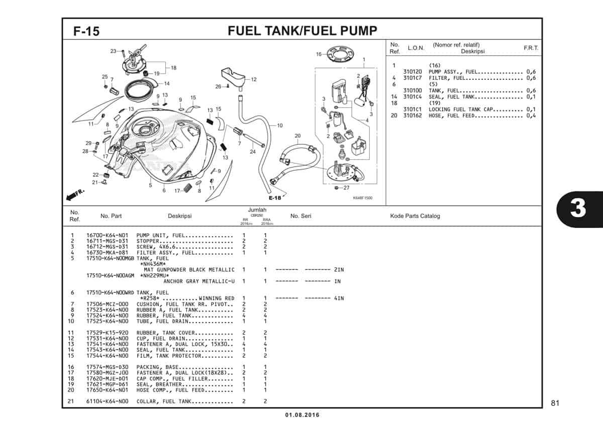 F15 Fuel Tank Fuel Pump 1