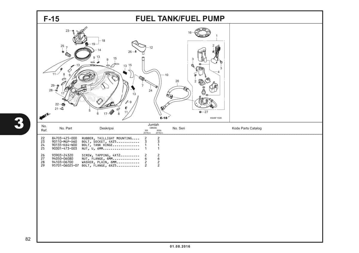 F15 Fuel Tank Fuel Pump 2