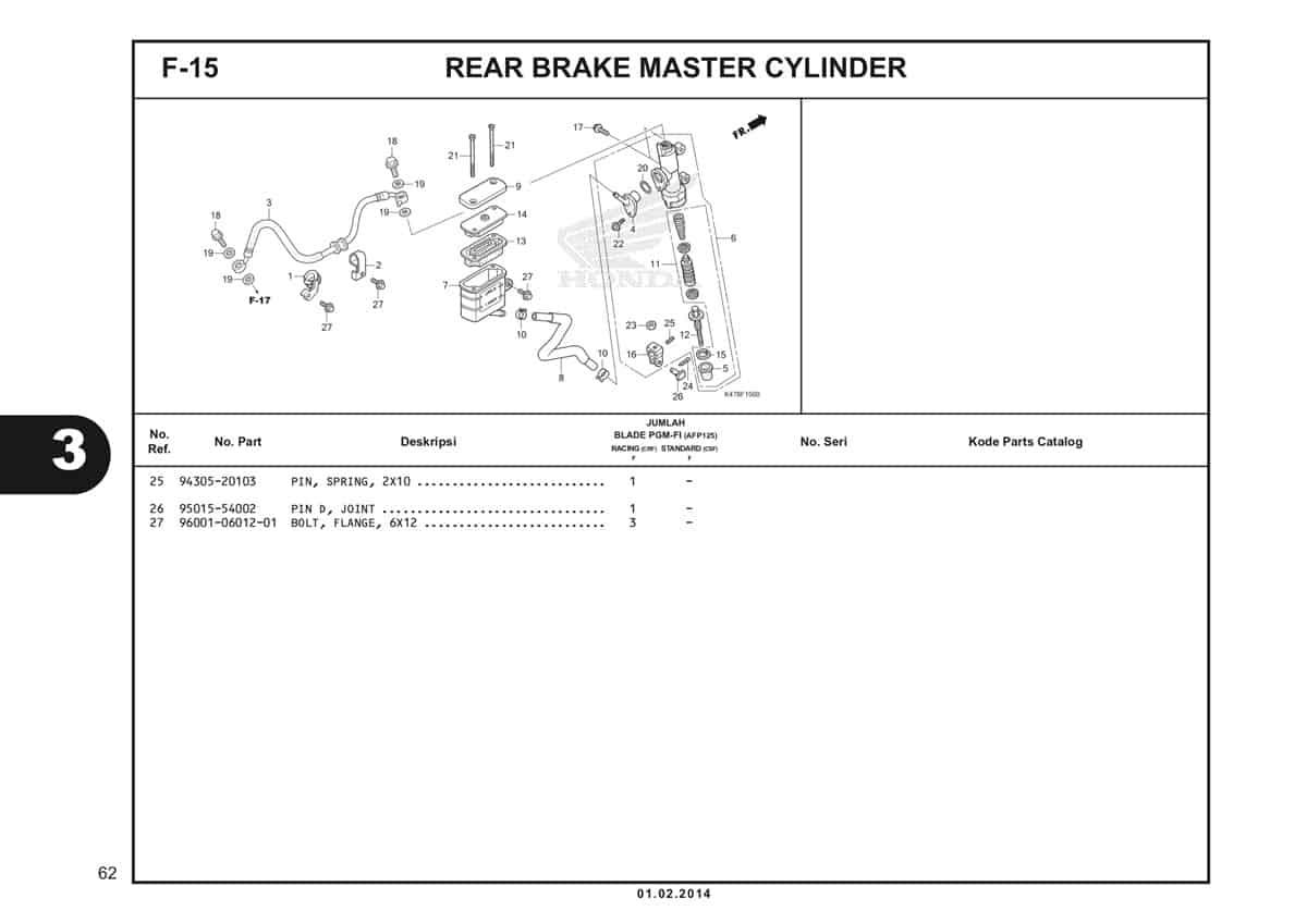 F15 Rear Brake Master Cylinder Katalog Blade K47 2