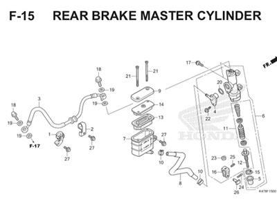 F15 Rear Brake Master Cylinder Katalog Blade K47 Thumb