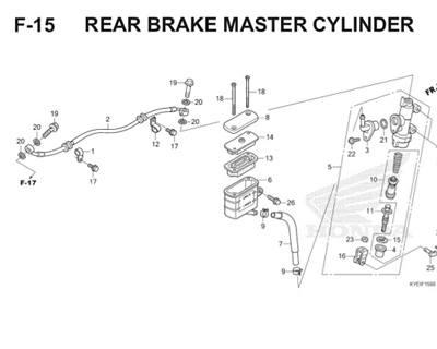 F15 Rear Brake Master Cylinder Thumb