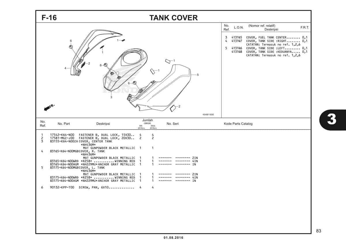 F16 Tank Cover