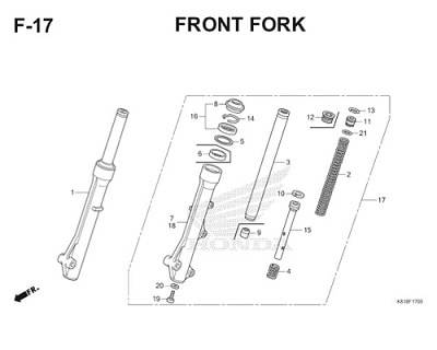 F17 Front Fork Thumb