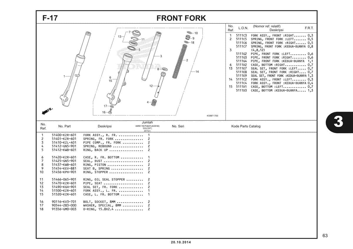F17 Front Fork