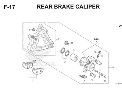 F17 Rear Brake Caliper Thumb