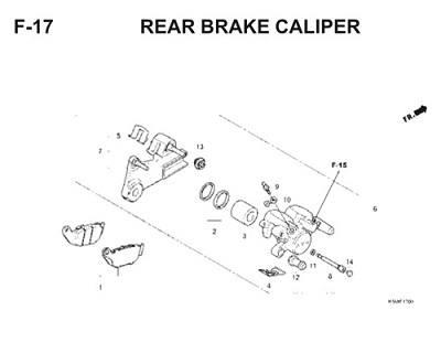 F17 Rear Brake Caliper Thumb