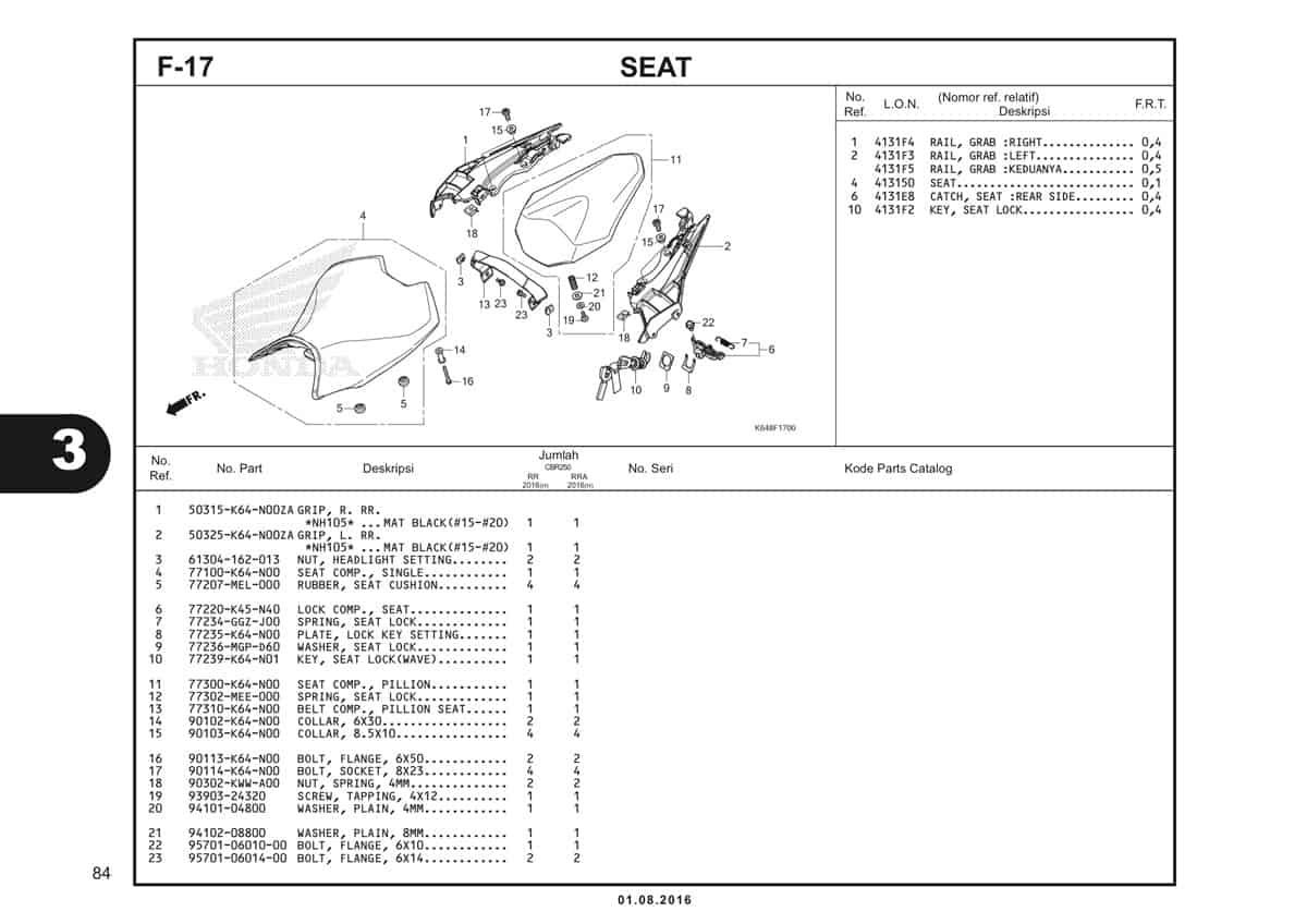 F17 Seat