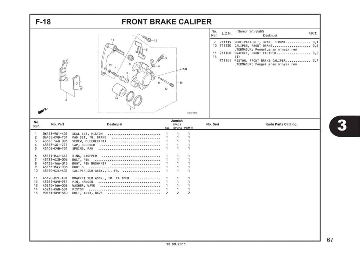 F18 Front Brake Caliper