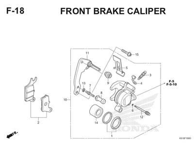 F18 Front Brake Caliper Thumb