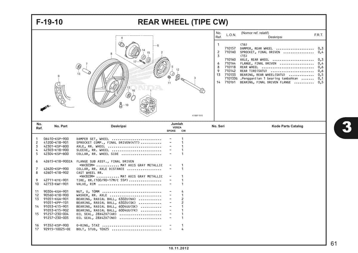 F19 10 Rear Wheel