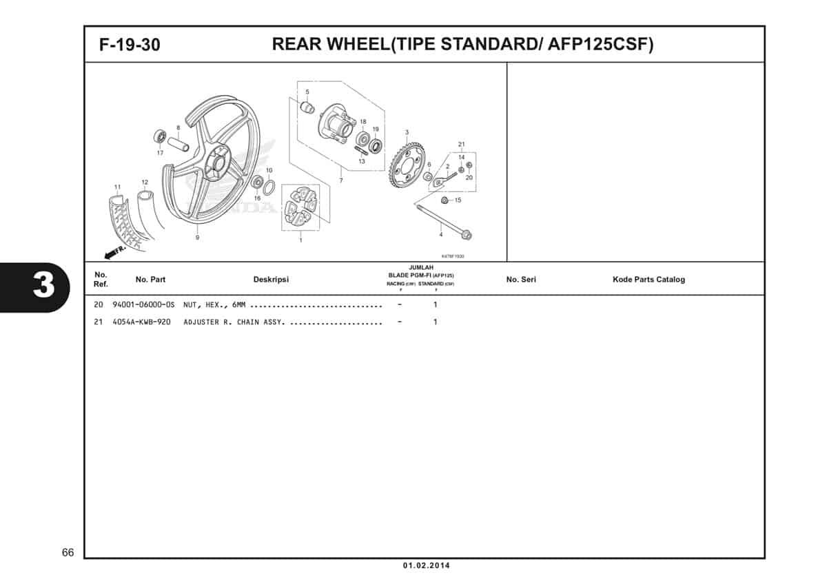 F19 30 Rear Wheel Katalog Blade K47 2