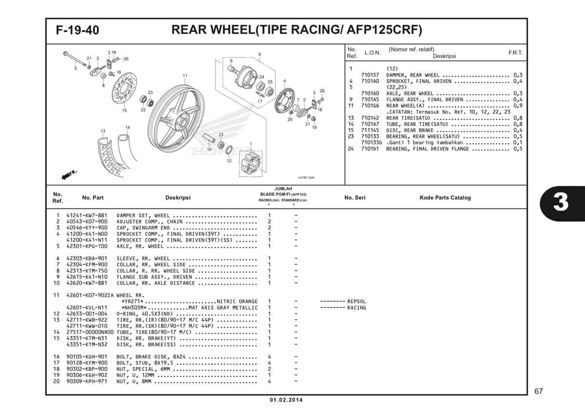 F19 40 Rear Wheel Katalog Blade K47 1