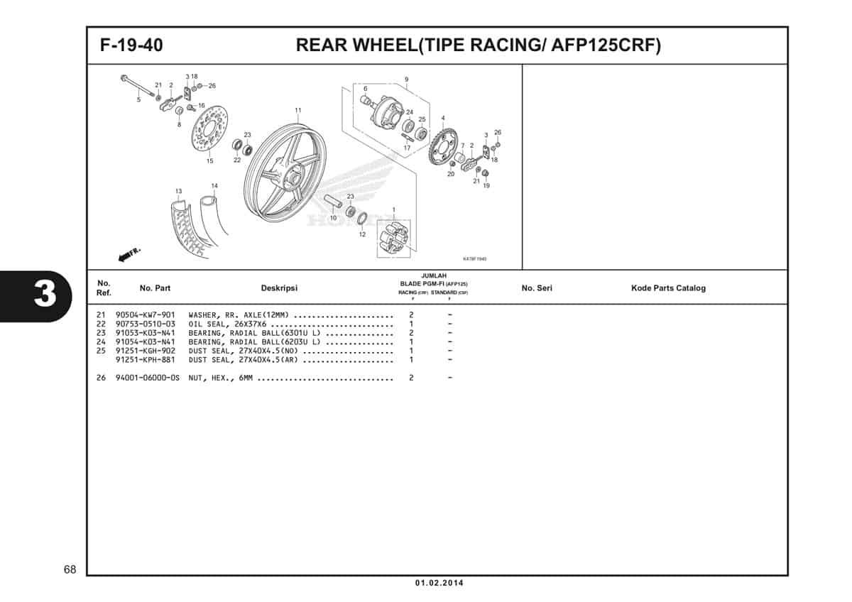 F19 40 Rear Wheel Katalog Blade K47 2