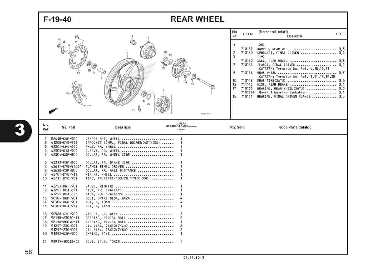 F19 40 Rear Wheel